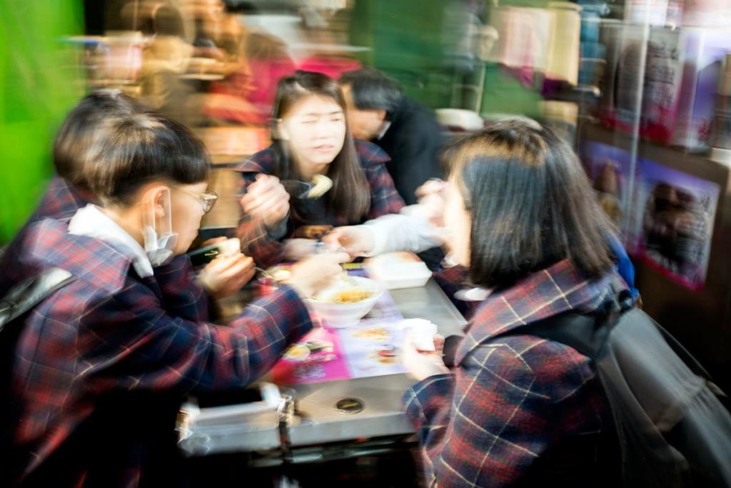 Ningxia Gece Pazarı Tayvan masalar.